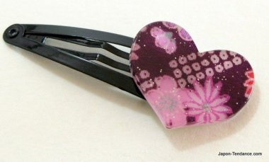 Pince à cheveux clic clac Coeur