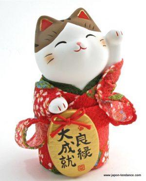 Manekineko en kimono Amour