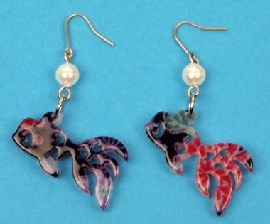 Boucles d'oreilles Petit poisson rouge