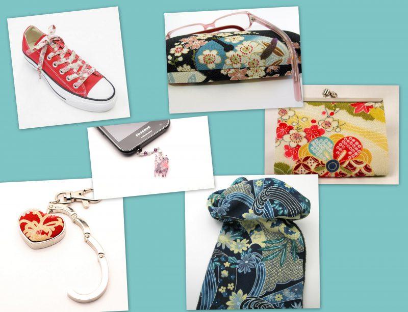 Semaine de soldes sur les accessoires avec le tissu japonais chirimen et pour smartphones