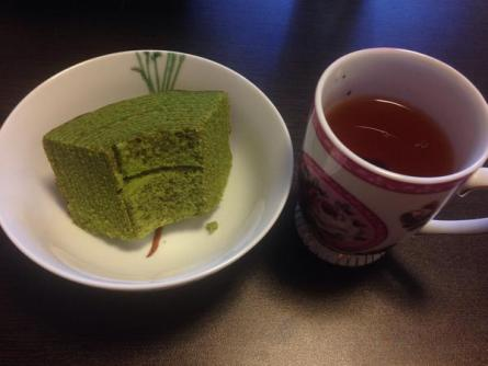 Japoński sękacz z zieloną herbatą