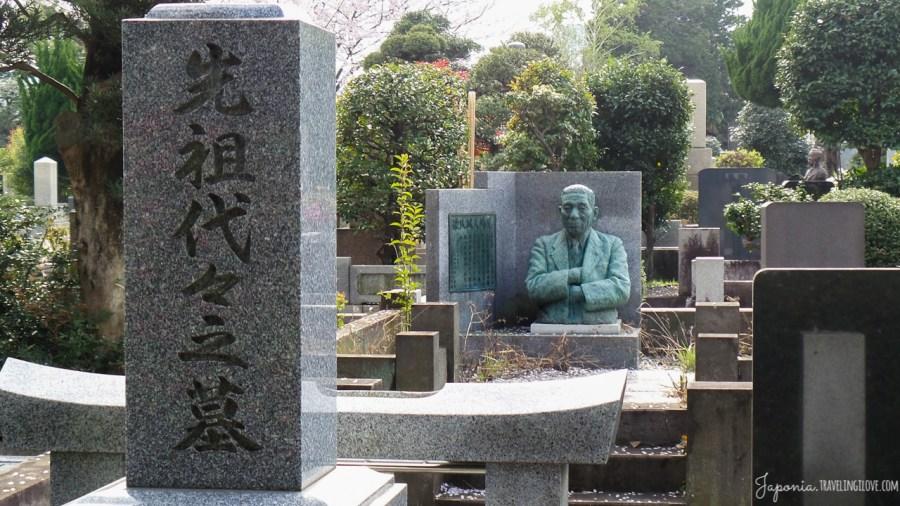 Kwitnące wiśnie na Cmentarzu Aoyama w Tokio