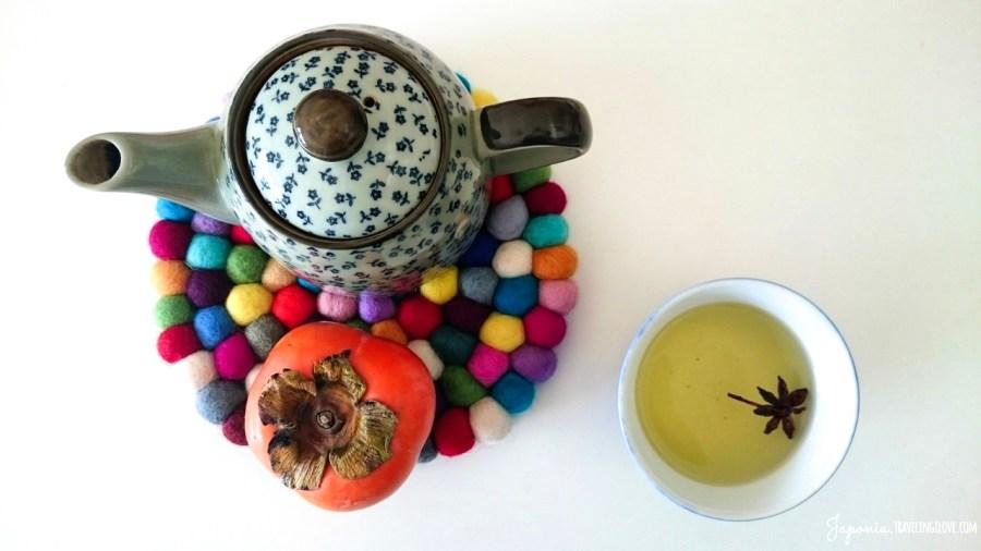 Ceramiczny czajniczek (wygląda jak nasz Bolesławiec!) i czarka z Daiso (300 i 108 jenów)