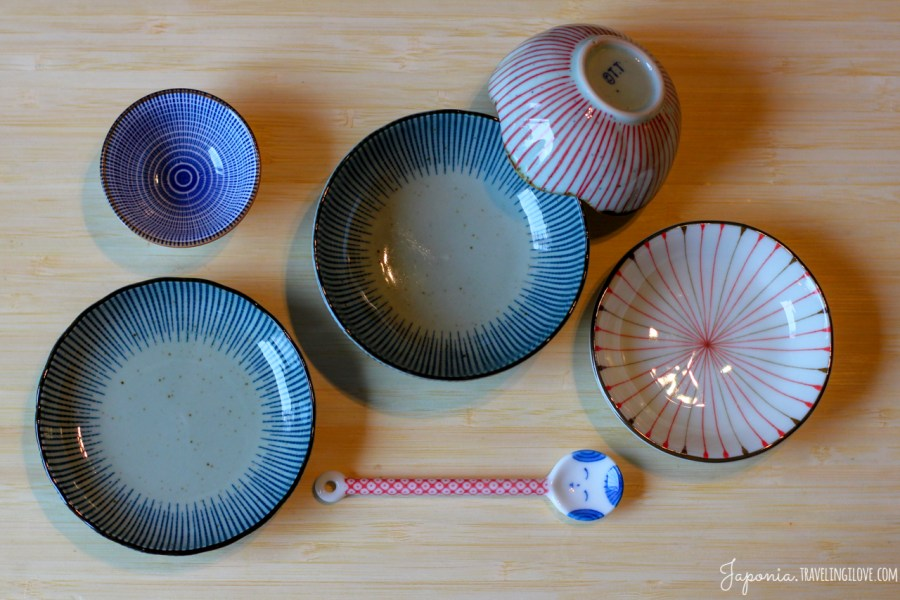 Japońska ceramika w paski