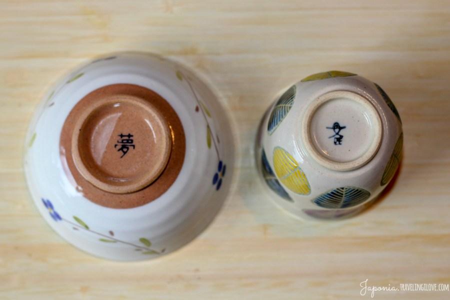 Japońska ceramika - spody czarek