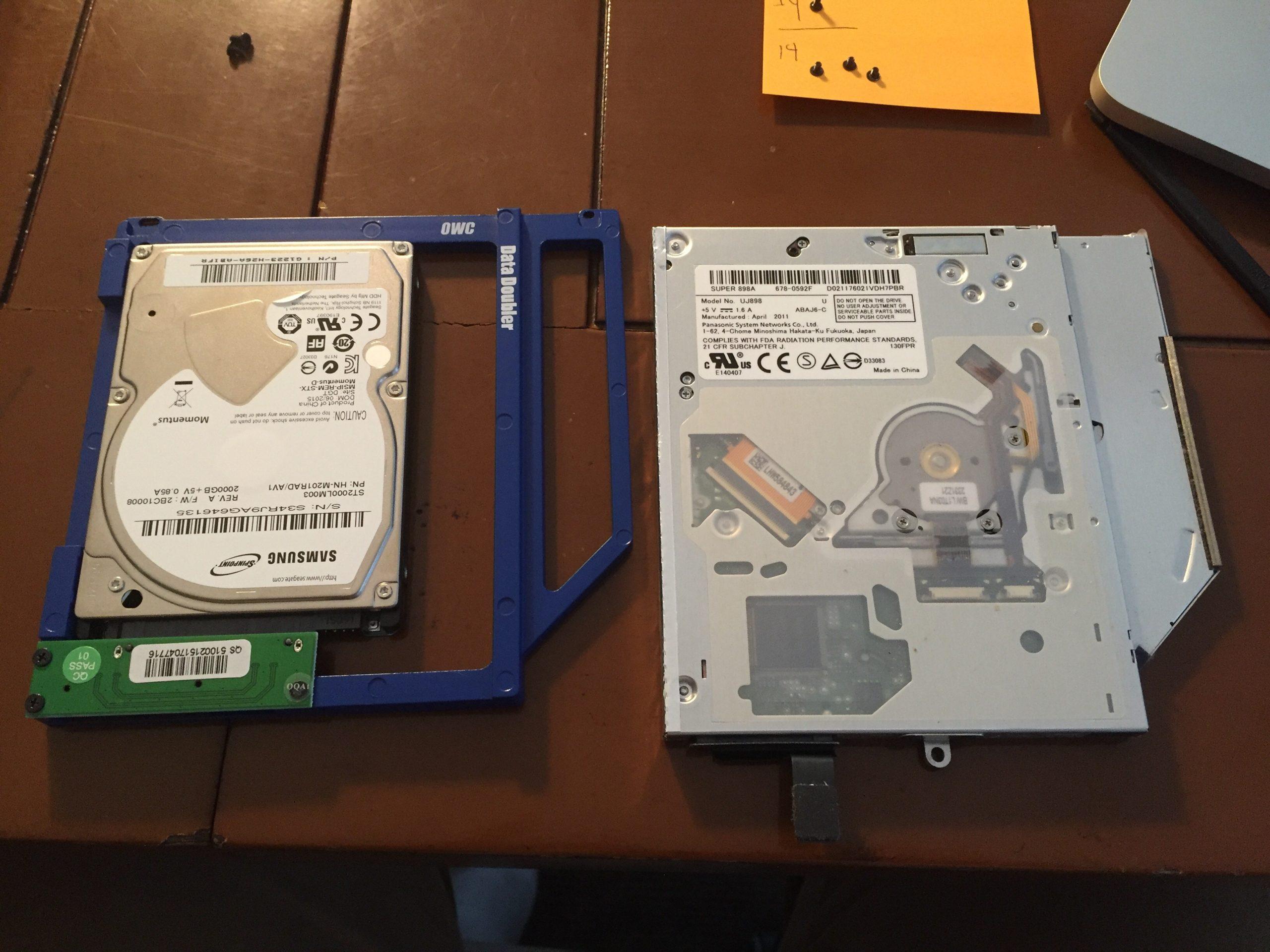 OWC Data Doubler Macbook Pro
