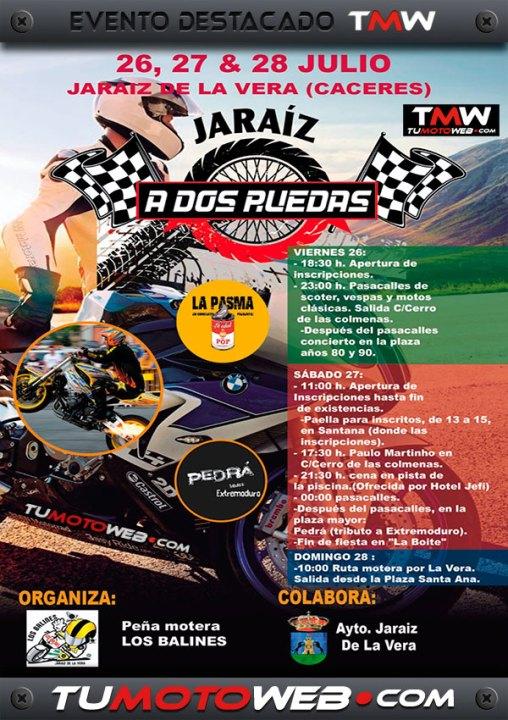 Cartel-A-Dos-Ruedas-PM-Los-Balines-Jaraiz-de-la-Vera-Caceres-Julio-2019