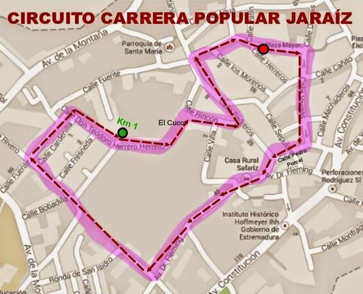 San Silvestre Jaraiceña - Circuito 2014