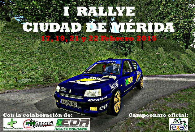 I Rallye Ciudad de Mérida. Con un total de 63 pilotos inscritos