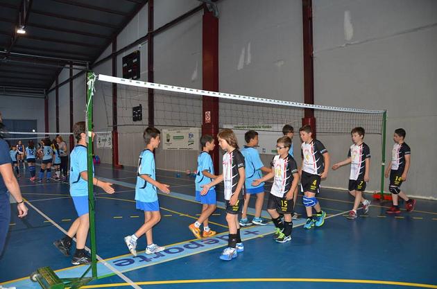 Equipo alevín de Club Voleibol Jaraíz