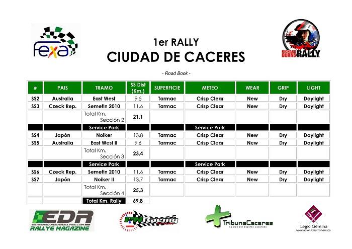 Libro de Ruta - I Rallye de Cáceres Online