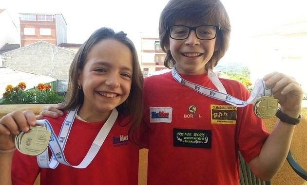 Pablo Rodríguez primero en Infantil y Andrea Rodríguez segunda en Benjamín en las IV Olimpiadas JUDEX de escalada