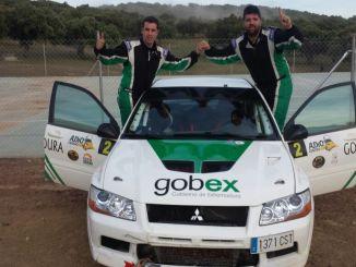David Quijada y Daniel Canelo de Escudería Plasencia se ha alzado con el triunfo del III Tramo Cronometrado de Salvaleón