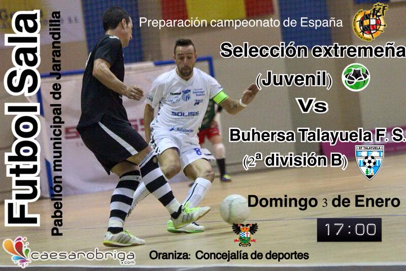 Partido de preparación de la Selección Extremeña Juvenil de fútbol Sala