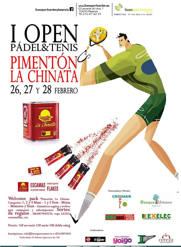 I Open Pádel & Tenis Pimentón La Chinata