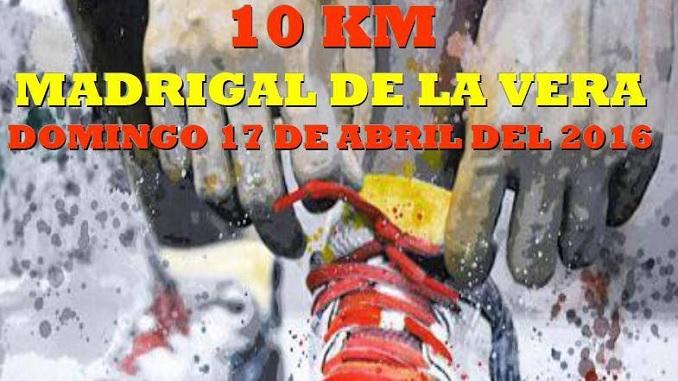 Carrera de 10 km en Madrigal de la Vera (17 de abril de 2016)