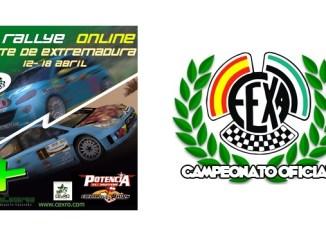 Comesaña en el IV Rallye Norte de Extremadura Online