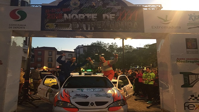 Justo Franco y Ángel Luis Álvarez ganan el XXXI Rallye Norte de Extremadura
