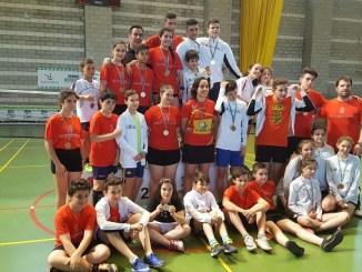 Éxito del AD Cura Mora en las olimpiadas escolares de Bádminton