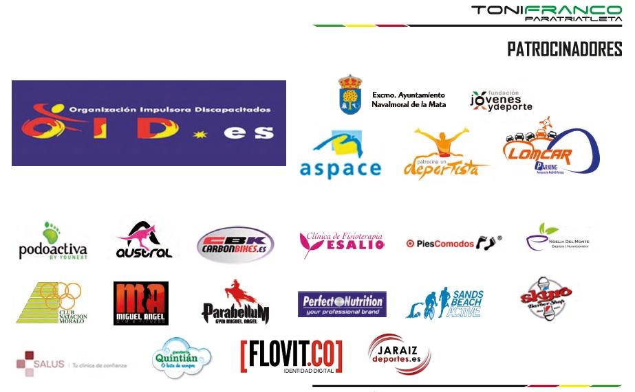 Panel de Patrocinadores Toni Franco 2016