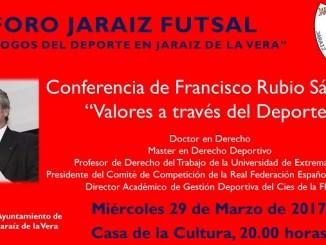 FORO JARAÍZ FUTSAL, Diálogos del Deporte en Jaraíz de la Vera