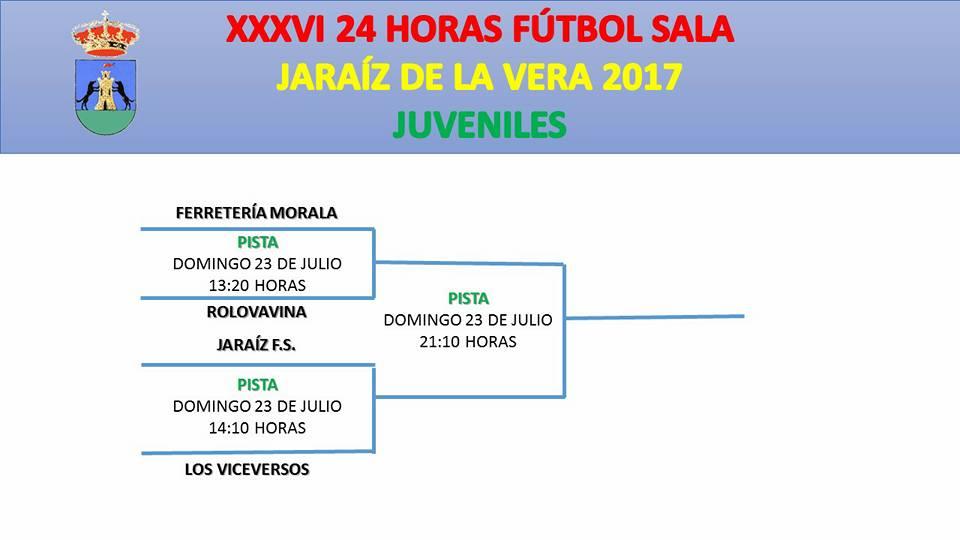 Cuadrados de Juego 24 horas Fútbol-sala de Jaraíz De la Vera