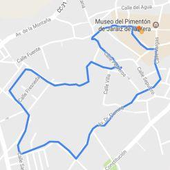 Recorrido - IX San Silvestre Jaraiceña sábado 30 de diciembre del 2017