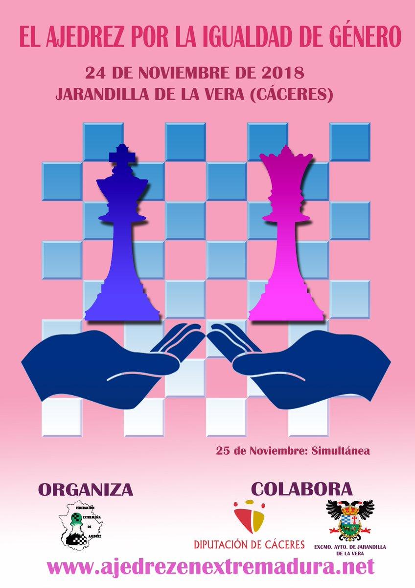 Torneo de Ajedrez por la Igualdad de Genero en Jarandilla de la Vera