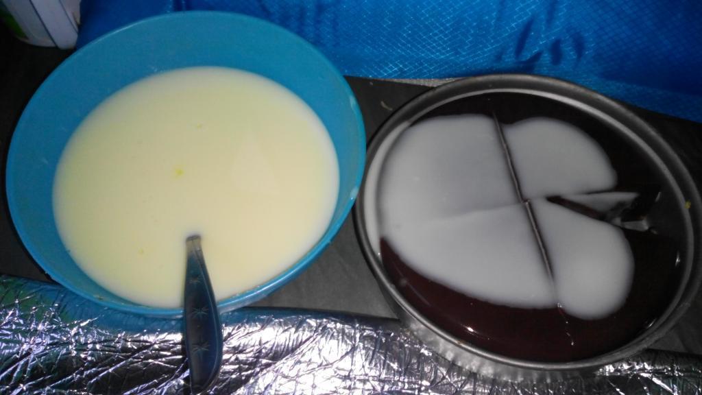 puding coklat feat fla vanilla