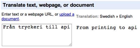 Text and Web - Google Translate