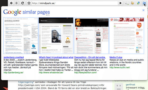 google - similar pages (mindpark)