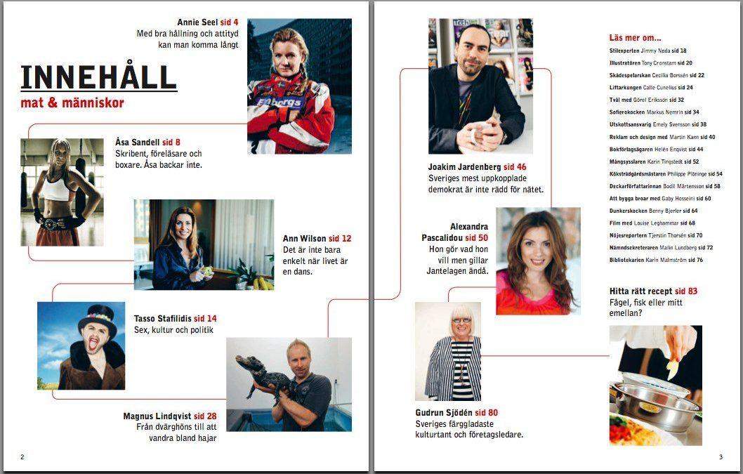 Uppslag ur Kulturkortsmagasinet