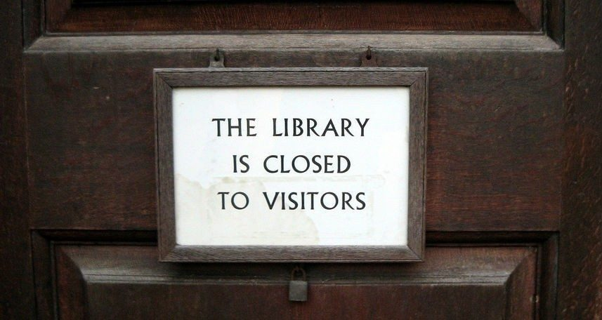 Library is closed Flickr/littlestar19 CC BY-NC
