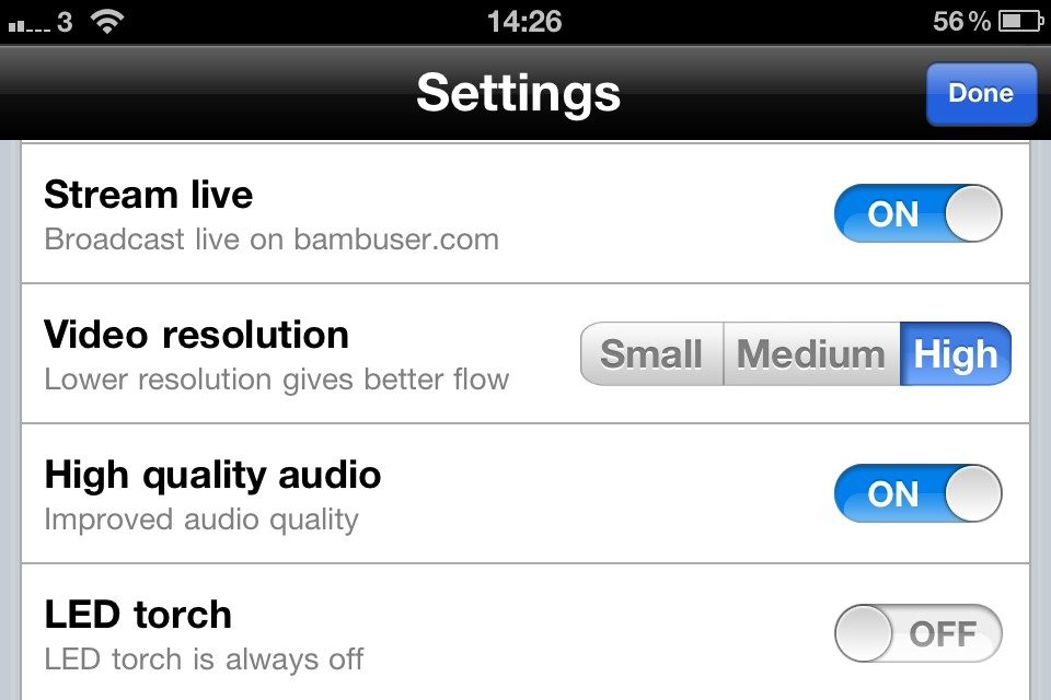 iPhone 4S, Bambuser, ljud och kanske en liten bugg
