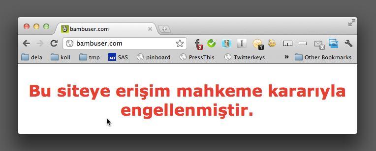 Bambuser blockerat i Turkiet – WTF?