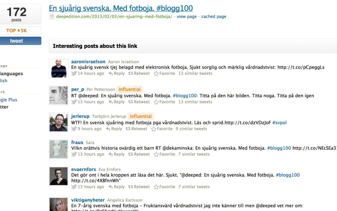 #012 av #blogg100 – ett blogginlägg tar skruv