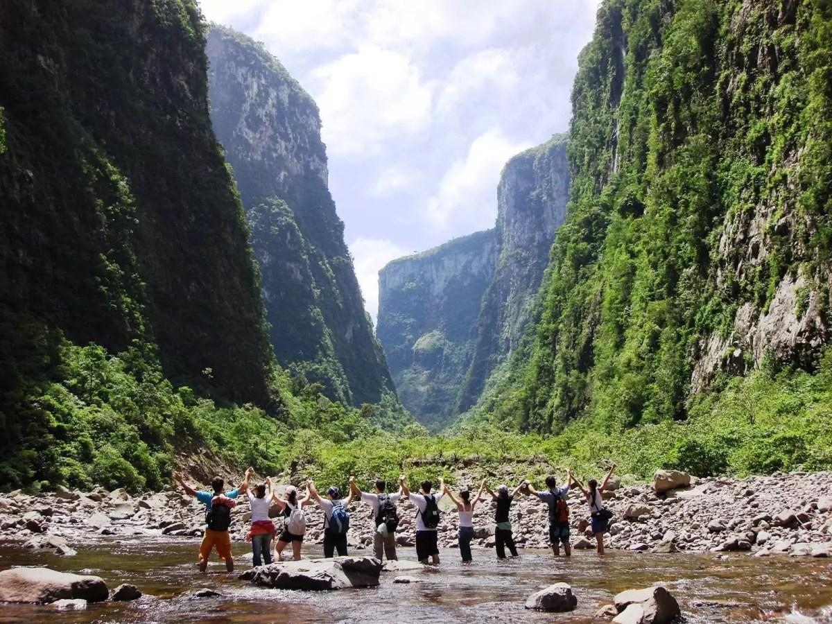 Jardim do Mundo no maior conjunto de Canyons da América Latina