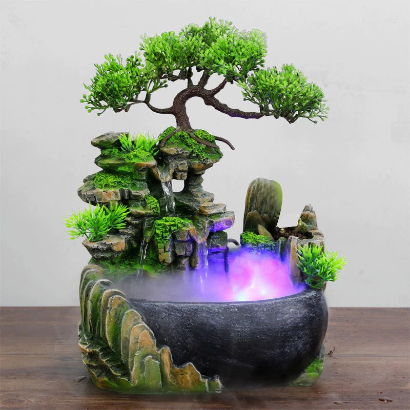 fontaine bureau arbre feng shui