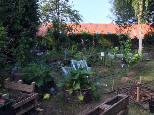 decorer son jardin avec de la recup