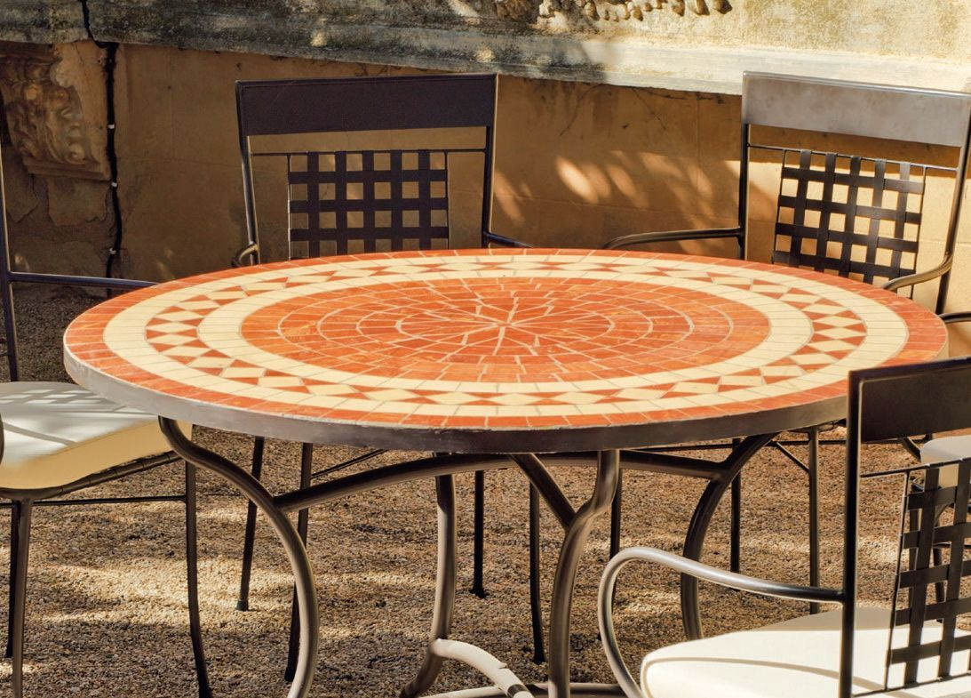 Table Mosaique Ronde | Carrelage Original Couloir Et ...