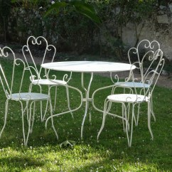 Old Fashioned Metal Lawn Chairs How To Reupholster A Barber Chair French Accents In The Garden  Giving Your Little