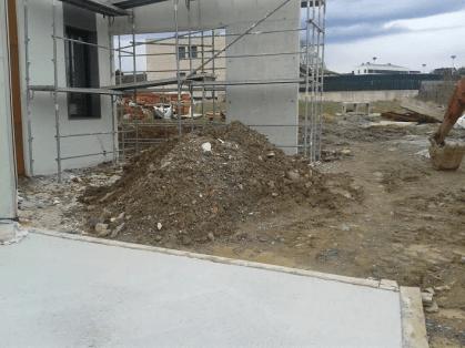 trabajos con excavadora