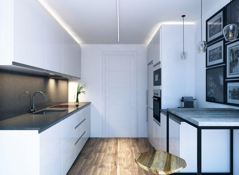 cocina de una vivienda del residencial jardines de olimpo