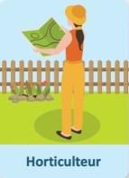 Illustration montrant un horticulteur