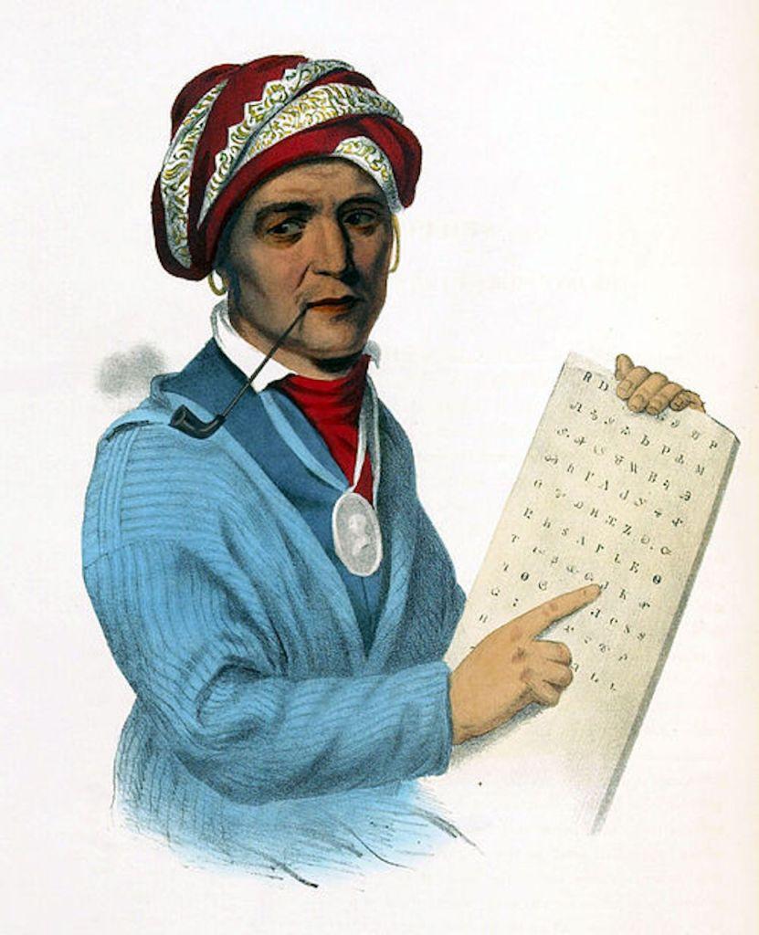 Illustration du chef amérindien Sequo