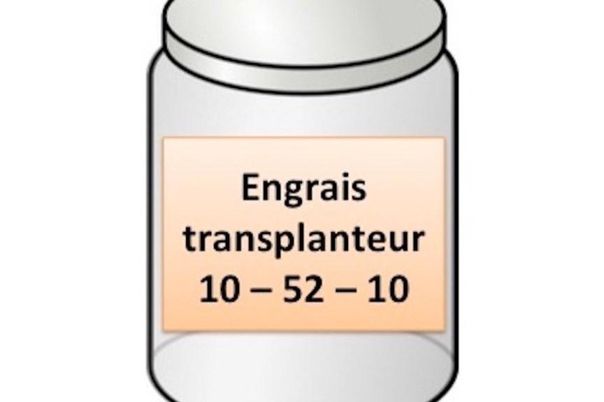 Pot d'engrais transplanteur