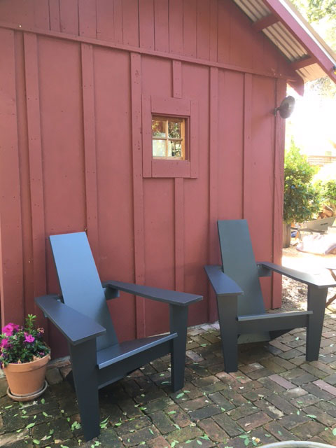 modern style adirondack chairs swinging lounge chair mid century jardinique classic outdoor