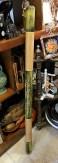 Didjeridoo en bambou et décor peint à la main, INDONESIE - Prix de vente : 30€.