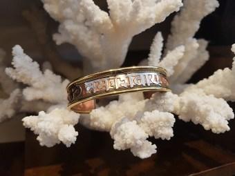 Bracelet en cuivre et en laiton ciselé, INDE - Prix de vente : 15€.