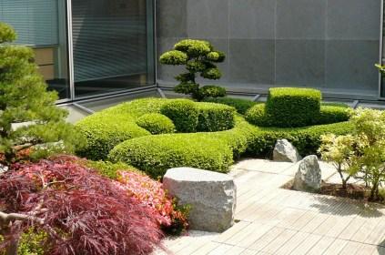 Vue générale du patio japonais